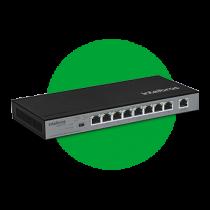 Switch 9 portas Fast Ethernet com 8 portas PoE+ SF 900 PoE