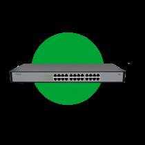 Switch 24 portas Fast Ethernet SF 2400 QR+