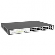 Switch Gerenciável 24 portas PoE Gigabit Ethernet com 4 Mini-GBIC compartilhadas SG 2404 PoE