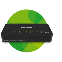 Switch 8 portas Fast Ethernet com VLAN Fixa SF 800 VLAN