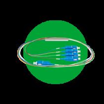 Splitter óptico com conector SC/UPC e SC/APC XFS 121 / 122 /141 / 142 / 181 / 182 / 1161 / 1162 /1321 / 1322
